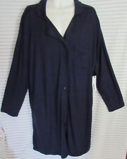 Sonoma Women's 3X Navy Blue Ulta Soft Peacoat Button Lounge Sleep Robe New TAGS