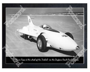 Historic Mauri Rose in the Firebird 1 on the Daytona Beach-Road Course Postcard