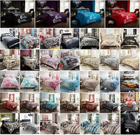 New Luxury Duvet Quilt Cover Bedding Set With Pillow Cases Single Double King