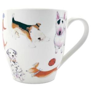 FabFinds Large Hugga Mug Spotted Dog Design Large Ceramic Mug (H11cm X W11cm)