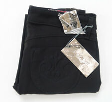NWT SIWY Stretch Skinny Black Gold Floral Layered Fabric Jeans Size 28 x 27
