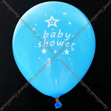 "8x 10"" blue / pink baby shower latex balloon boy girl party decoration"