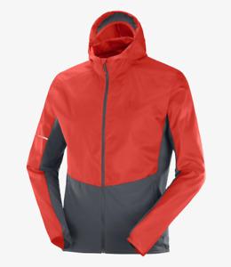 2021 Salomon Men's Agile FZ Wind Hoodie Running Jacket - Medium