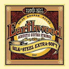 Ernie Ball Earthwood Silk and Steel Extra Soft Acoustic Guitar Set, 10-50 - 2047