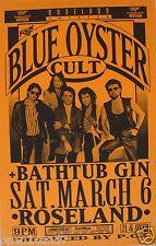 BLUE OYSTER CULT 1993 PORTLAND CONCERT TOUR POSTER - 70's Classic Rock Music