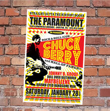 CHUCK BERRY Orig 2006 AUSTIN, TEXAS Concert Poster (Not Signed/Autographed!)
