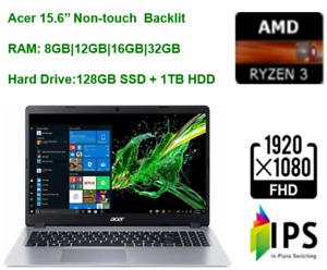 """2020 Acer Aspire 5 15.6"""" FHD Laptop Ryzen 3 , upto 32GB RAM & 128GB SSD+1TB HDD"""