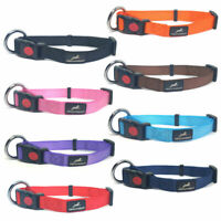 Miro & Makauri Nylon Dog & Puppy Collars Safety Buckle & Ring 8 Colours 4 Sizes