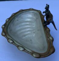 Antique B&C Figural standing KANGAROO Nut Dish- Made in England