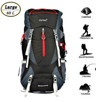 OUTAD 60+5L Outdoor Water Resistant Sport Backpack Hiking Camping Travel Bag US