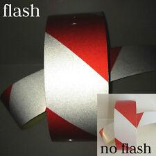 Nastro auto adesivo segnaletico catarifrangente colore Rosso/Bianco 50mm x 5 MT