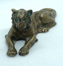 Rare! Antique Signed Tiffany Studios Bronze Lion Sculpture Paperweight