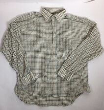 Hoggs of Fife Tattersall Hunting Shooting Cream Brown Check Button Shirt M