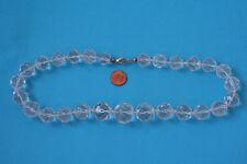Bergkristall-Kette(Kugel, fac.13-20mm. L=49 cm) K-0882/K