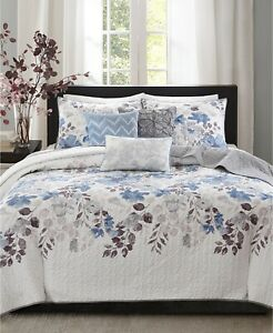 Madison Park King/California King Coverlet Set 6 Piece Luna T96215