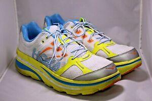 MEN'S HOKA ONE ONE BONDI B RUNNING SHOES Citrus/White Size 13 | Model:1107349