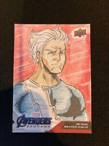 2020 Upper Deck Avengers Endgame Sketch Quicksilver 1 of 1