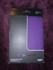 "GENUINE STAND CASE COVER FOR AMAZON KINDLE FIRE HD 7"" TABLET - PURPLE LEATHER"