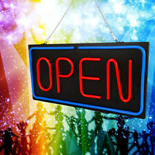 Neon Open Sign 24x12 inch Led Light 30W Horizontal Bright Home Power Adapter Hot