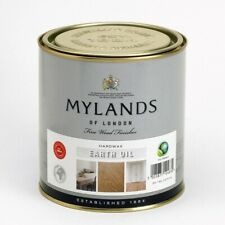 Mylands Hard Wax Earth Oil 1L For Natural Wooden Flooring Furniture Hardwax