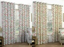Cotton Blend Abstract Contemporary Curtains