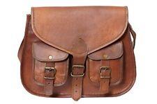 "13"" Hobo Purse Women Vintage Brown Leather Messenger Cross Body Bag Handmade"