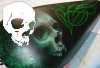 Airbrush Schablone Totenkopf Schädel A5 - Skull Stencil