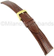16mm Speidel Brown Padded Gator Genuine Leather Mens Watch Band 924 330 Regular