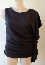 Bella babe NWT black top Size L/12 one sleeve NEW