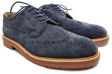 J. Crew Superior Boots and Shoes Blue Suede Wingtip Brogues Size 8.5