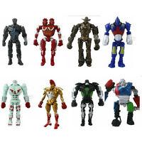 8x Real Steel Noisy Boy Midas Atom Twin Cities Zeus PVC Action Figure Movie Toys