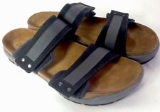 NEW NAOT Rider Coal Leather Black/Grey Sandals Men's US 13-13.5 EUR 46