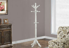 """Monarch Specialities Coat Rack - 73""""H / Antique White Wood Traditional Style"""