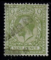 SG 393a.  9d.Olive Green. FU. Good Colour. Cat.£30.  Ref.07233
