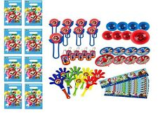(48pc) Super Mario FAVOR PACK  WITH 8 LOOT BAGS Party Supply Goody Bags