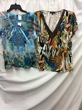 NWT! 7 WONDERS SET OF 2 SHORT SLEEVE SHIRT ,ONE LARGE AND ONE PL,FREE SHIPPING
