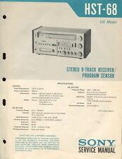 Sony HST-68 Original 8-Track Receiver Service Manual