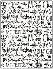 Crafts Too  Embossing Folder  MERRY CHRISTMAS 146 X 190mm CTFD3112