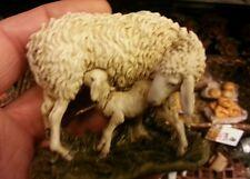 Pecore per pastori resina landi 15 cm PRESEPE shereped S.GREGORIO A. crib