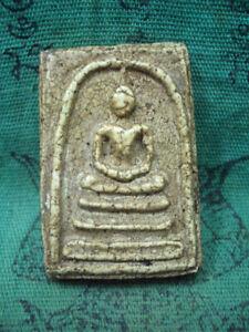 Phra Somdej Chinese Text Kru Wat Phra Kaew Talisman Old Thai Buddha Amulet Rare