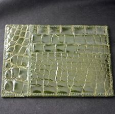 Vintage Green CROCODILE Credit Card Holder Italy