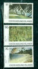 Cocos Islands 1987 Beach Palm Tree  Forest  3 values  MNH