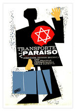 "Movie Poster for Czech film""Transport to PARADISE""Jewish.David Star.Art.Spanish."