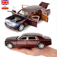 1:24 Rolls-Royce Alloy Model Car Collectiion Openable Doors Pull Back Toys