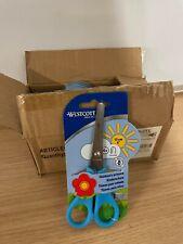(Pack of 12) Children's Right Handed Craft Scissors Westcott Blue Blunt Tip 4+