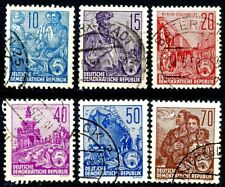 Germany DDR 1955 Redrawn Type Complete Used Set Scotts 227 227B 228 229 230 230A