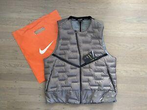 Nike Aeroloft Down Running Vest - Men's Large ~ $180.00 CU7797 Grey/Graphite