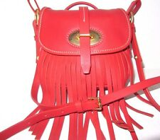 Dooney & Bourke Small Red Fiona Leather Fringe Crossbody Bag New NWT $228