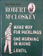 ROBERT McCLOSKEY - MAKE WAY FOR DUCKLINGS, ONE MORNING IN MAINE - 1998 HARDBACK