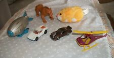 Lot of 6 Toys-2 Cars, Blimp, Helicopter, Sabre Tooth Tiger and ZhuZhu Pet Nugget